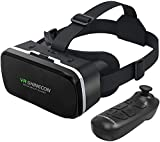 VR 3D Glasses Virtual Reality Goggles Headset Compatible with Remote Controller, High Definition Optical Lens, Adjustable Distance