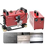 Huanyu Portable Pneumatic Marking Machine Dot Peen Marker Metal Marking Machine for VIN Code Chassis Number KT-QD05 110V (150X50mm)