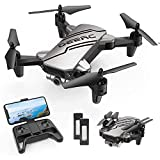 DEERC D20 Mini Drone for Kids with 720P HD FPV Camera Remote Control Toys Gifts for Boys Girls with Altitude Hold, Headless Mode, One Key Start Speed Adjustment, 3D Flips 2 Batteries, Silver